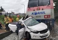 추석연휴 영동선 철길 날벼락, 승용차·열차 부딪혀 2명 사망