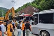 울릉도서 관광버스 2대 충돌…34명 중경상