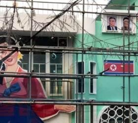 北 <!HS>김일성<!HE>·김정일 사진으로 홍보한 술집, 결국 자진 철거…경찰 수사 종결