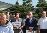 한국당 삭발 릴레이···황교안에 이어 이주영·심재철도 동참