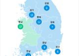 [9월 19일 PM2.5]  오후 5시 전국 초미세먼지 현황