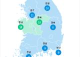 [9월 19일 PM2.5]  오전 11시 전국 초미세먼지 현황