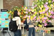 한국외대 글로벌캠퍼스 진로취업지원센터, '취업희망나무 소망걸기' 행사 개최