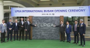 LPGA 인터내셔널 부산, 오픈식 개최...다음달 공식 첫 선