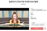 '어른이들의 힘' 이용신 '달빛천사' OST 펀딩 13억 돌파