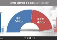 '검찰개혁 촛불집회' 공감 54% vs 비공감 42% [리얼미터]