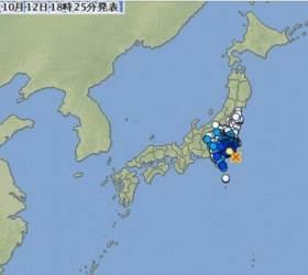 태풍 하기비스에 <!HS>지진<!HE>까지 덮친 <!HS>일본<!HE>, 하늘·땅 모두 마비됐다