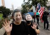 '복면금지법에 저항하라' 시진핑 마스크까지 등장한 홍콩