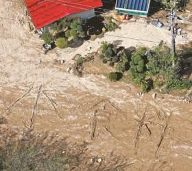 [사진] 일본 <!HS>태풍<!HE>에 고립된 주민 '물·음식' SOS