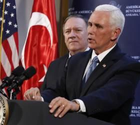터키-<!HS>미국<!HE>, 시리아 휴전 합의...쿠르드 국경지역 철수 조건
