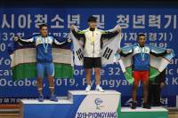 박형오, 평양 유소년역도선수권 인상 한국 첫 금