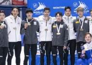 황대헌 '날 들이밀기', 남자 쇼트트랙 계주 공동 우승