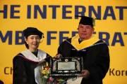 [사랑방] 용인대, 국제삼보연맹 회장에 명예박사