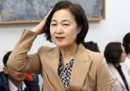 """추미애 법무장관설…""""무슨 변 당하려, 본인 원치 않을것"""" 반응도"""