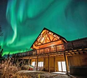 [알림] 캐나다 통나무집에서 북극 오로라를 즐기다