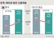 한국 청년실업자 28% 늘어날 때, OECD는 14% 줄었다