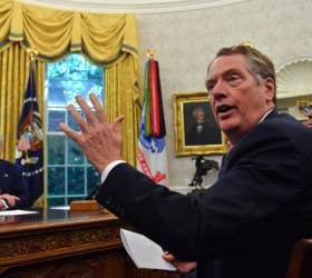 """트럼프 """"곧 2단계 미중 협상""""···이 말 부정한 <!HS>무역<!HE>협상 美대표"""