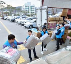 국제위러브유운동본부, <!HS>태풍<!HE> 이재민에 5000만원어치 구호물품 지원