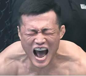 [서소문사진관] 태극기 마우스피스 낀 '코리안 좀비' 정찬성, <!HS>UFC<!HE>서 화끈한 1R TKO 승리