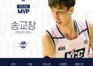 KCC 송교창, 데뷔 첫 라운드 MVP 수상
