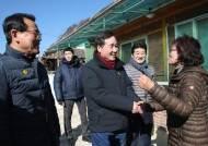"""이낙연 총리, 임기 마지막 주말 재해현장 방문 """"힘냅시다"""""""