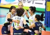 '두 자릿수 득점 4명' 현대건설, GS칼텍스 꺾고 6연승