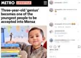 아이큐 142로 멘사 들어간 말레이시아 3세 아동