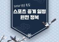 [2020 설특집 ③] 일간스포츠 Pick 스포츠 중계 일정 완전 정복