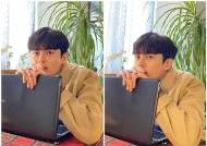이지훈, 종영 인터뷰 첫날 노트북 앞 한껏 귀여운 매력발산