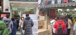 """트럭째 마스크가 들어온다 """"중국인들, 명동 약국 싹쓸이"""""""