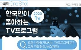 그래픽 ONE SHOT 1월 한국인 '최애' TV 프로남북 로맨스 꿈꾸는 드라마