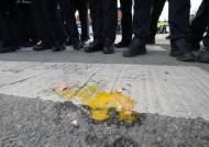이번에는 양승조 충남지사 달걀 봉변···아산 주민들 거센 항의