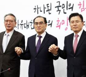 """하태경, 태영호 한국당 입당에 """"그 용기에 박수…<!HS>남북관계<!HE> 큰 도움"""""""