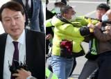 """""""윤석열 잘한다"""" VS """"국민 우롱·무시""""…윤석열 광주 방문에 보수·진보 충돌"""