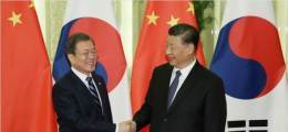 """文, 시진핑과 32분 전화통화 """"중국 어려움이 우리 어려움"""""""