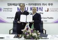 정화예술대, 이탈리아 '아카데미아 까사 푸두'와 글로벌 외식 인재 양성 협약