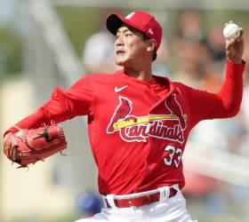 김광현, <!HS>MLB<!HE> 첫 시범경기 등판...삼진 2개로 합격점