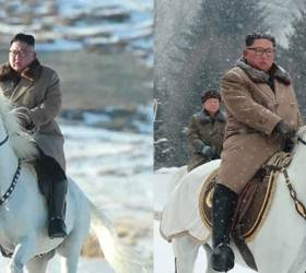 """""""김정은 백두산 오를때 탄 백마, 푸틴이 <!HS>김정일<!HE>에 보낸 선물"""""""