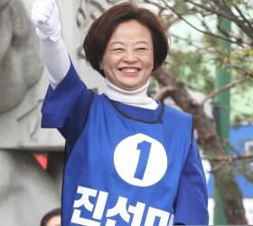 [격전지 개표 상황]'진보 험지' 서울 강동갑 진선미, 이수희 앞서