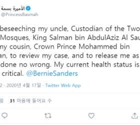 """납치·투옥된 <!HS>사우디<!HE> 인권운동가 공주 """"석방해달라"""" 트위터로 SOS"""