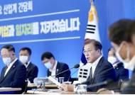"""그린뉴딜 외치는 文, MB 정책 옹호···""""녹색산업이 위기극복"""""""