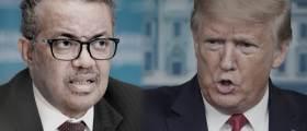 """[영상] WHO """"시신가방 치울래"""" 트럼프 """"中편 들지마"""" 대혈투"""