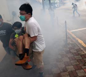 <!HS>홍콩<!HE>이 다시 최루탄으로 덮였다···이번엔 '보안법' 반대 <!HS>시위<!HE>