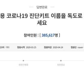 """수출용 코로나 키트 '<!HS>독도<!HE>'로 청원에 …靑 """"업체가 결정할 사안"""""""