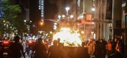 """트럼프, 시위대 초강경 대응  """"폭동 저지 위해 군대 동원"""""""