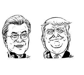 """<!HS>문재인<!HE> 대통령 """"트럼프 G7 초청 기꺼이 응하겠다"""""""
