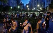 경찰 불허에도 홍콩서 '천안문 사태' 추모집회 열려…참가인원은 대폭 줄어