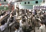 [사진] 북한 '탈북자 위협' 집회