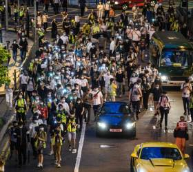 '<!HS>홍콩<!HE> <!HS>시위<!HE>' 1주년...기념집회 참가자들<!HS>,<!HE> 길거리서 무더기 체포