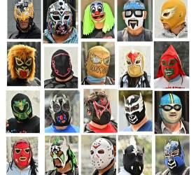 [<!HS>한컷플러스<!HE>+] 복면 쓴 멕시코 프로레슬러들 링 대신 거리로...